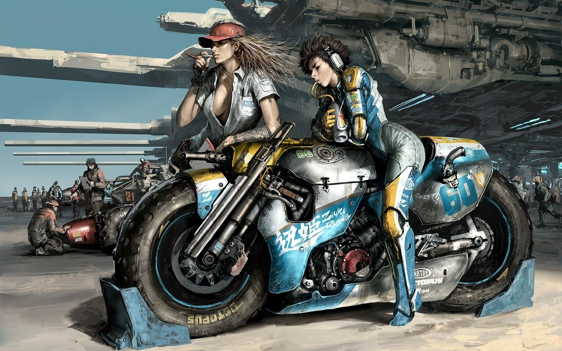 Anime Motorcycle Wallpapers Top Free Anime Motorcycle Backgrounds Wallpaperaccess