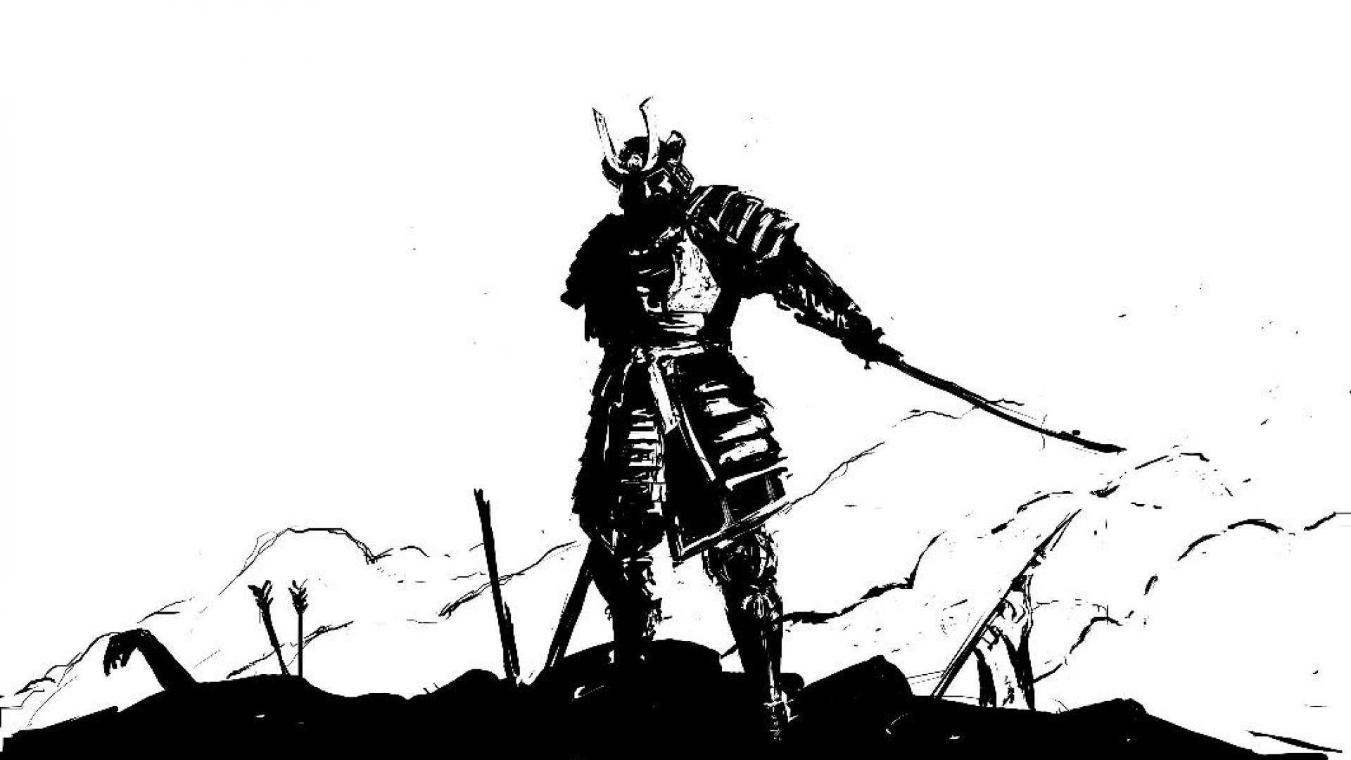 Black And White Samurai Wallpapers Top Free Black And White Samurai Backgrounds Wallpaperaccess
