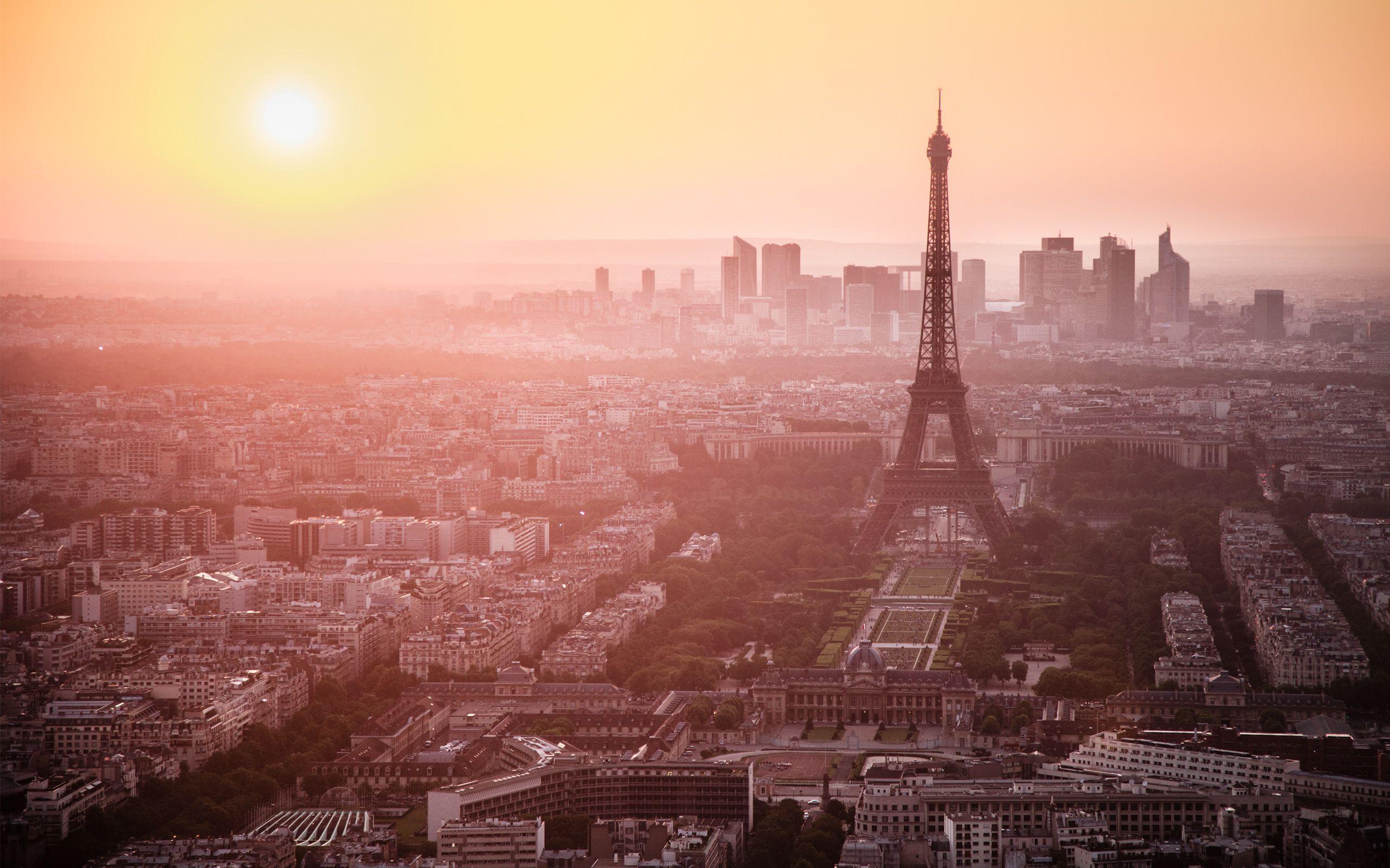 Paris Sunset Wallpapers Top Free Paris Sunset Backgrounds Wallpaperaccess