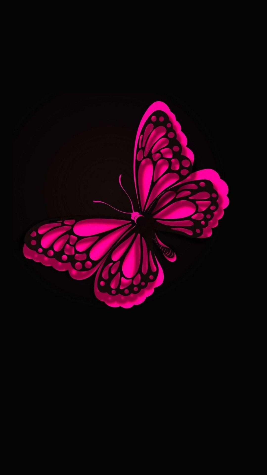 Pink Butterfly Phone Wallpapers Top Free Pink Butterfly Phone Backgrounds Wallpaperaccess