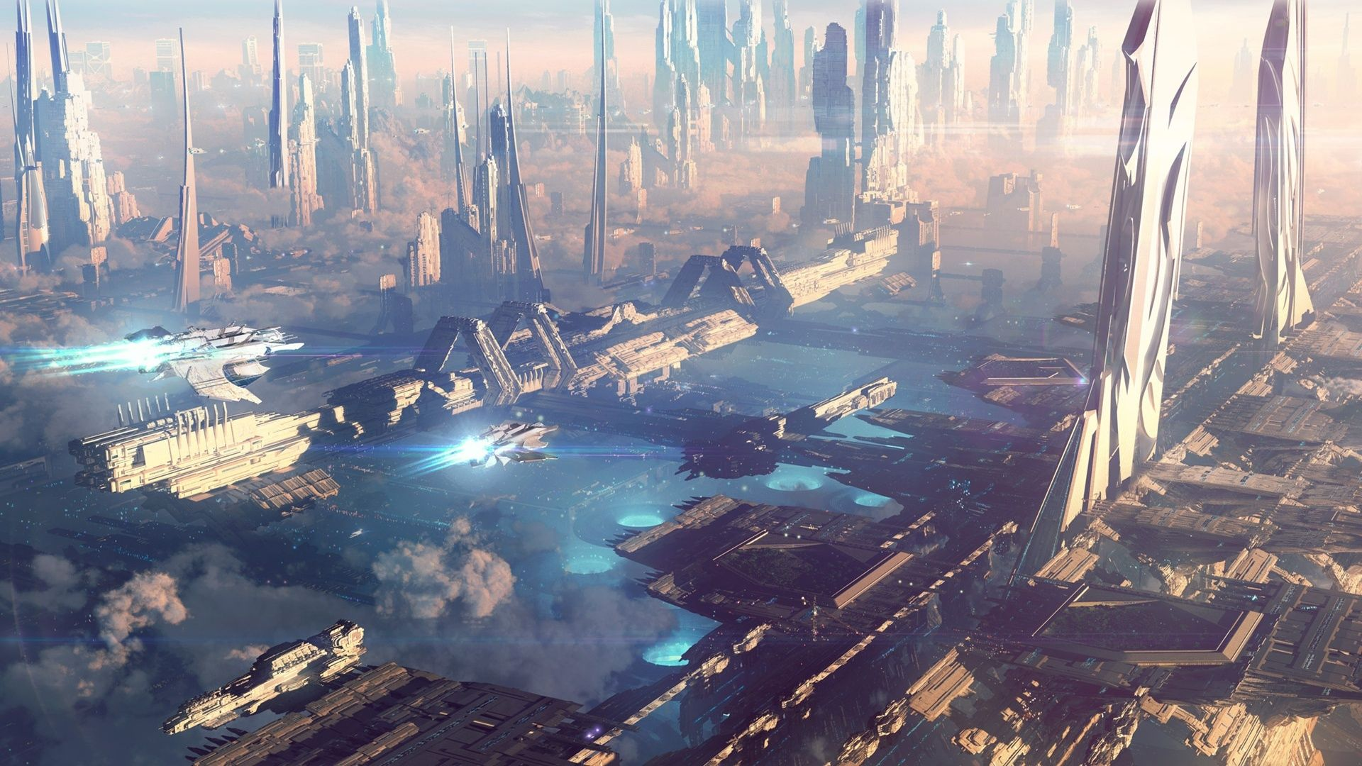 Future Space City Wallpapers Top Free Future Space City Backgrounds Wallpaperaccess
