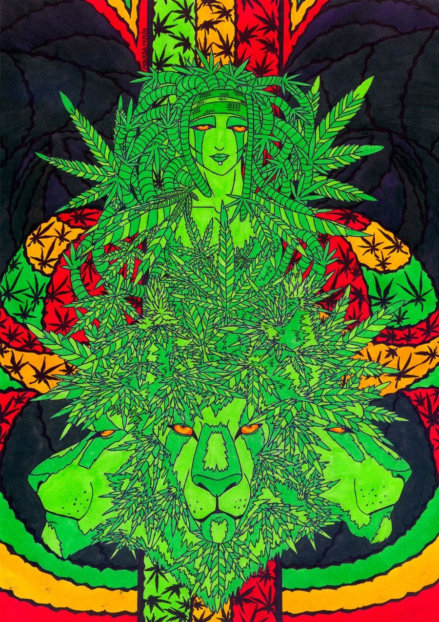 Psychedelic Weed Wallpapers Top Free Psychedelic Weed