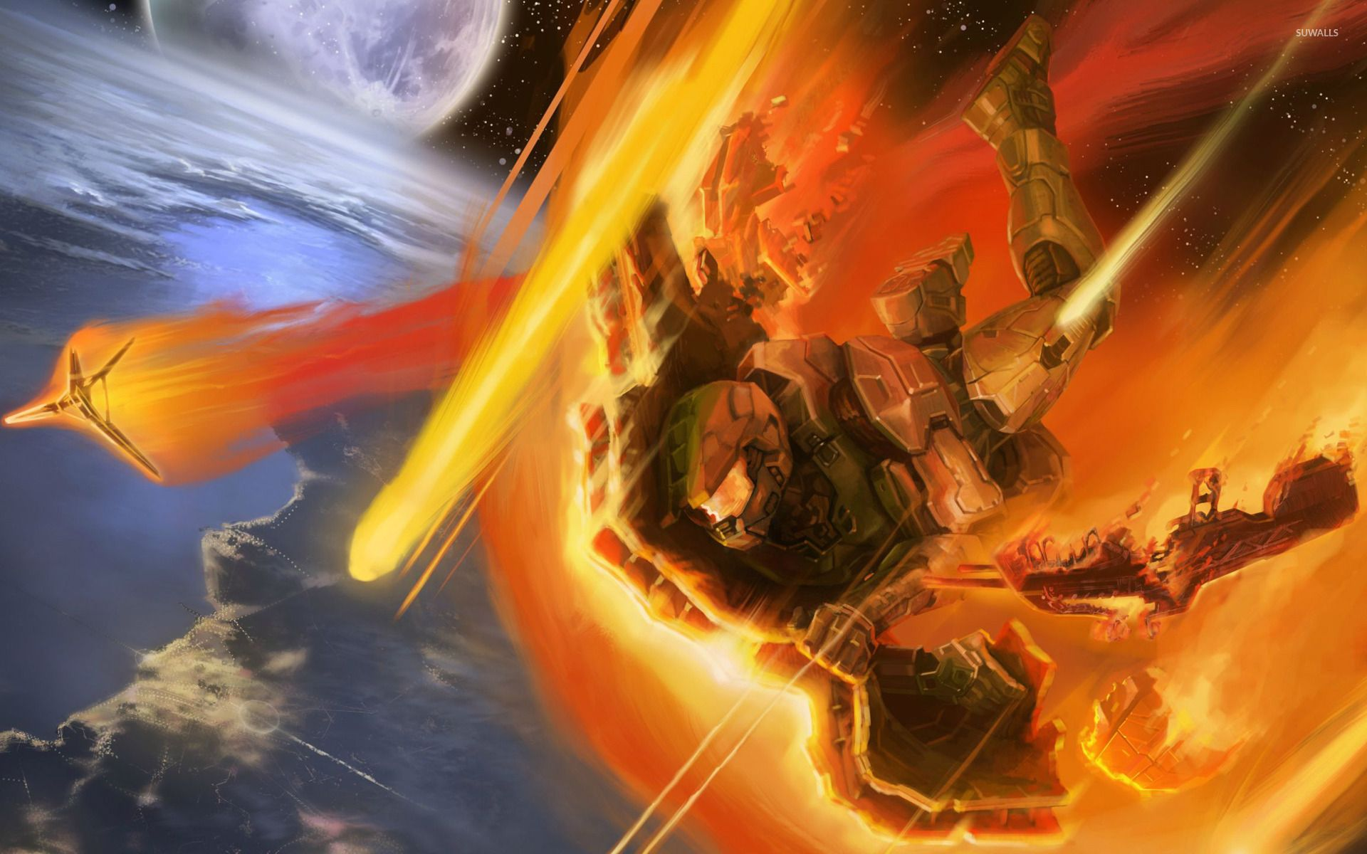 Epic halo wallpapers top free epic halo backgrounds wallpaperaccess - Wallpaper halo wars ...