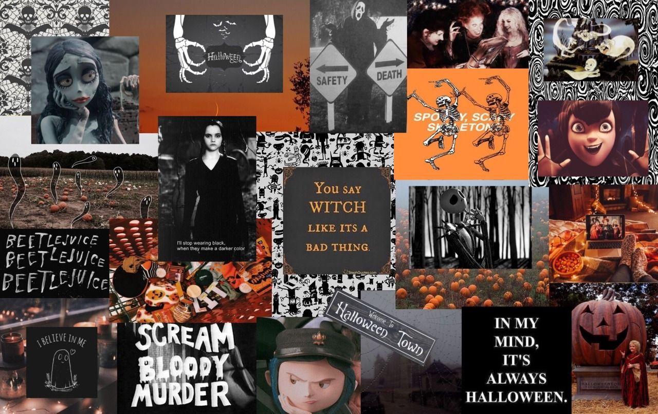 Aesthetic Halloween Laptop Wallpapers Top Free Aesthetic Halloween Laptop Backgrounds Wallpaperaccess