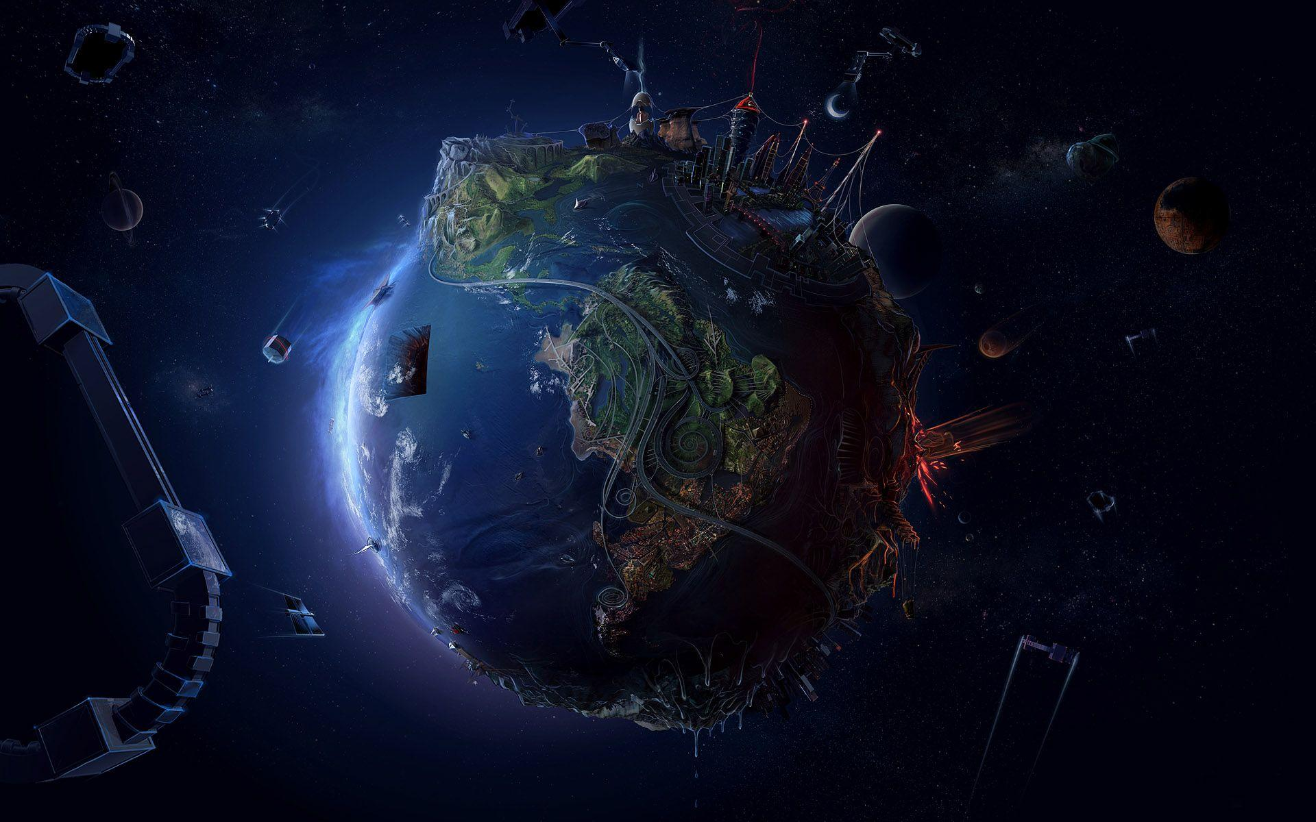 Planet Earth Abstract Wallpapers Top Free Planet Earth
