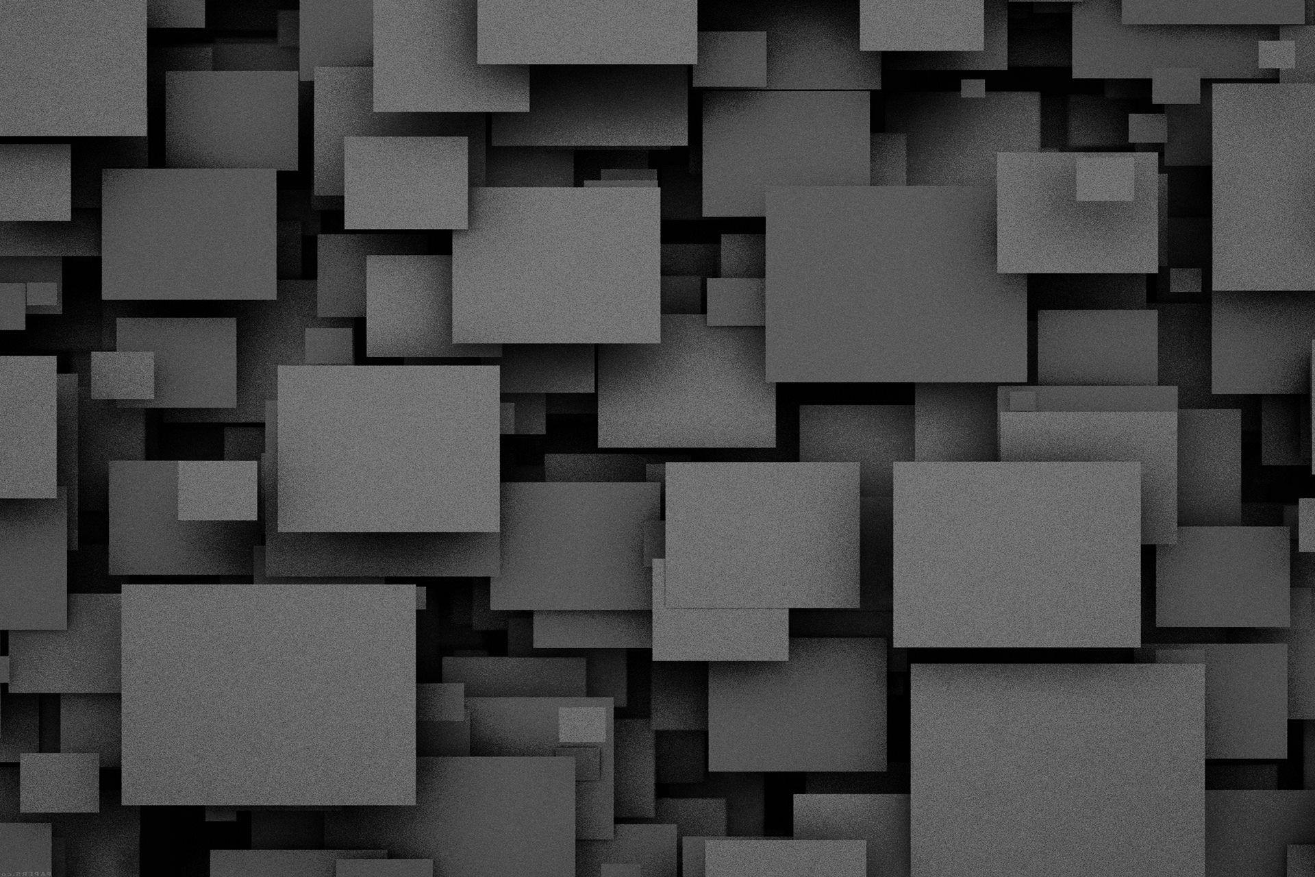3D Effect Square Stone Brick Silver Grey Metallic Wallpaper Fine Decor