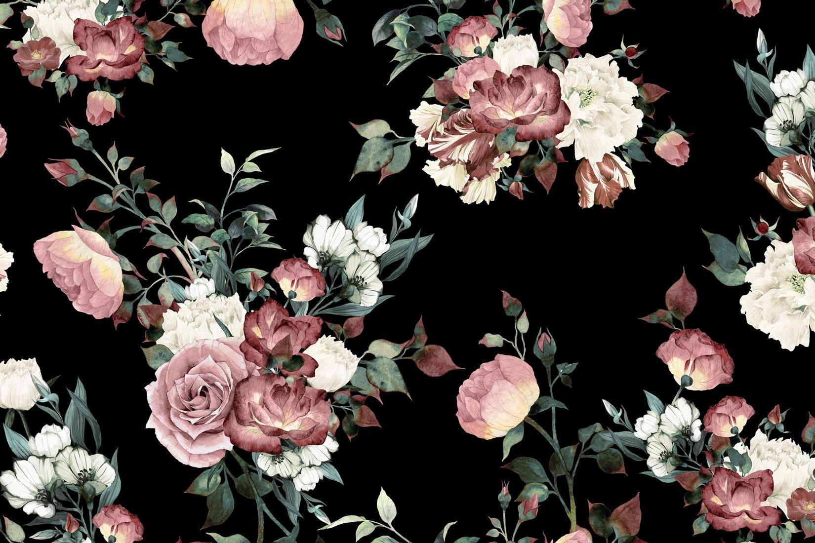 Vintage Flower Wallpaper (104 Wallpapers) - HD Wallpapers
