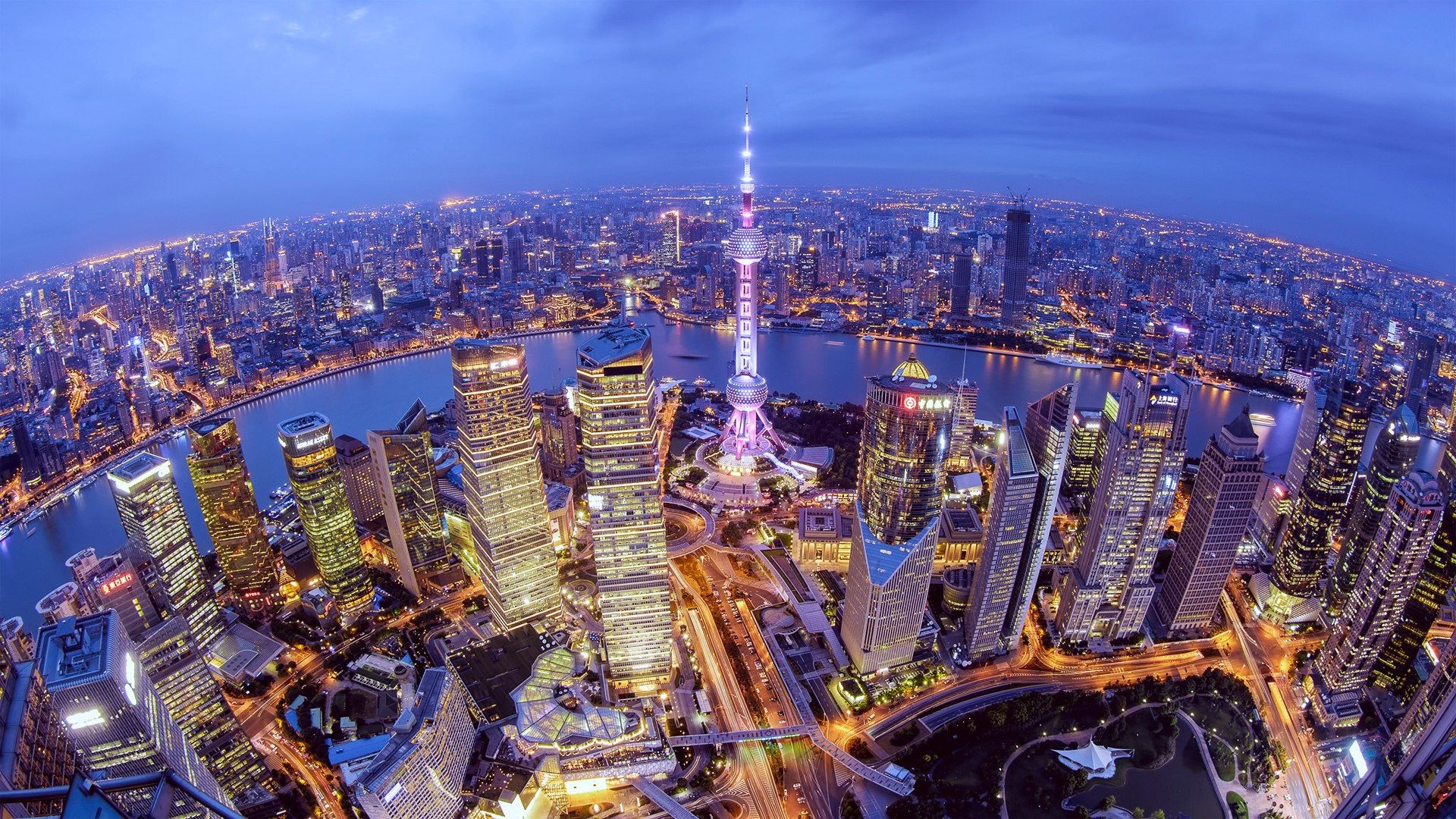 Chinese city wallpapers top free chinese city backgrounds wallpaperaccess - Shanghai skyline wallpaper ...