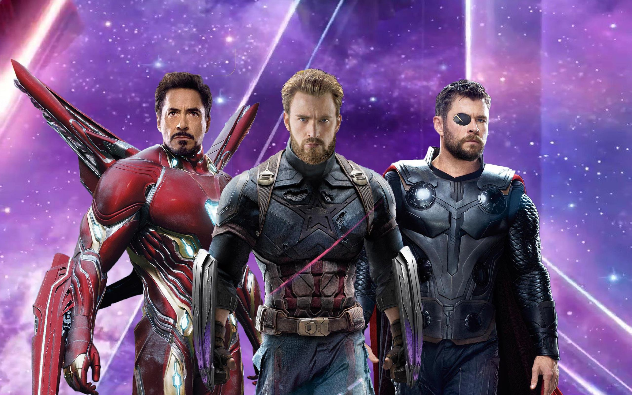 2560x1600 Iron Man Captain America Thor in Avengers Infinity War Wallpapers .