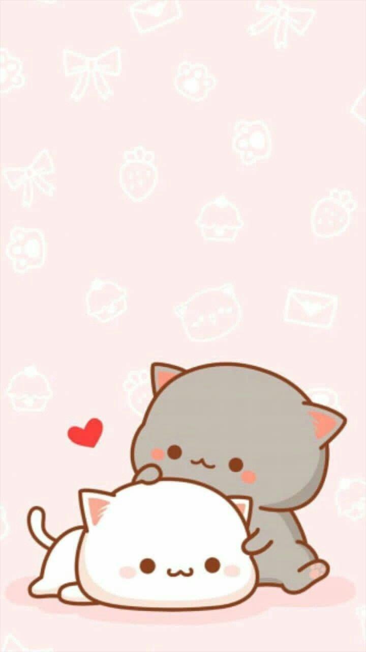 Cute Kawaii Cat Wallpapers Top Free Cute Kawaii Cat Backgrounds Wallpaperaccess