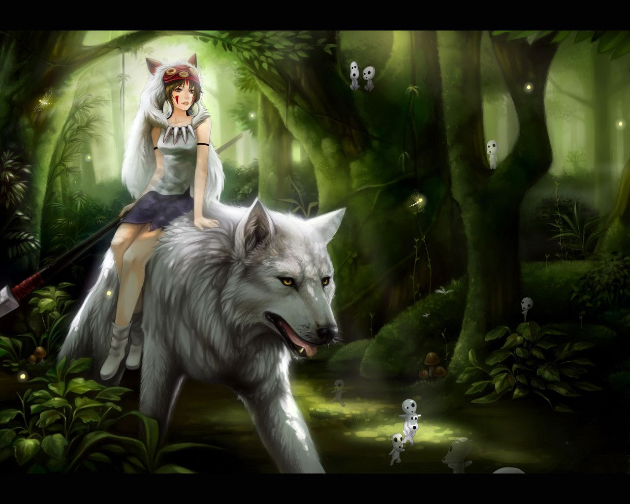 Anime Wolf Girl Wallpapers Top Free Anime Wolf Girl Backgrounds Wallpaperaccess