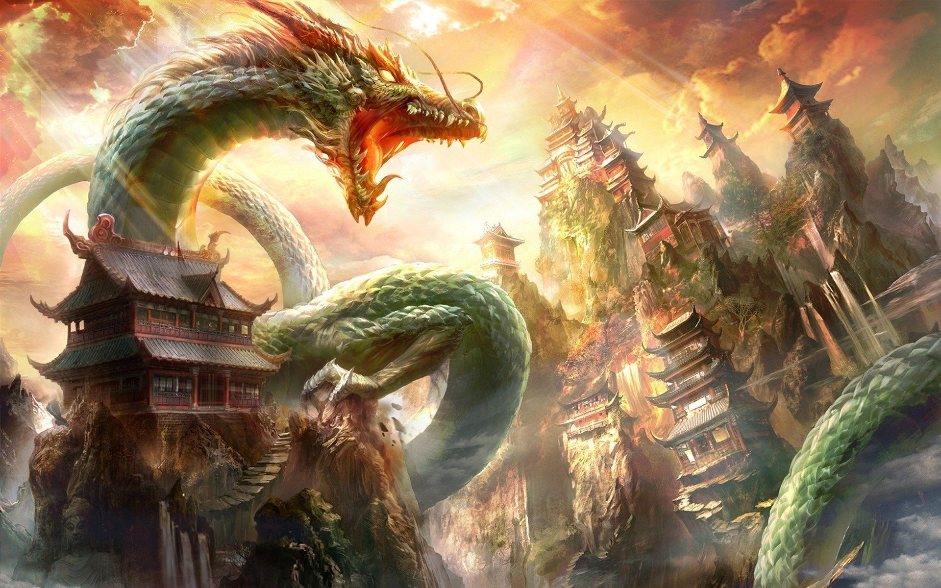 Dragon Wallpapers Top Free Dragon Backgrounds Wallpaperaccess