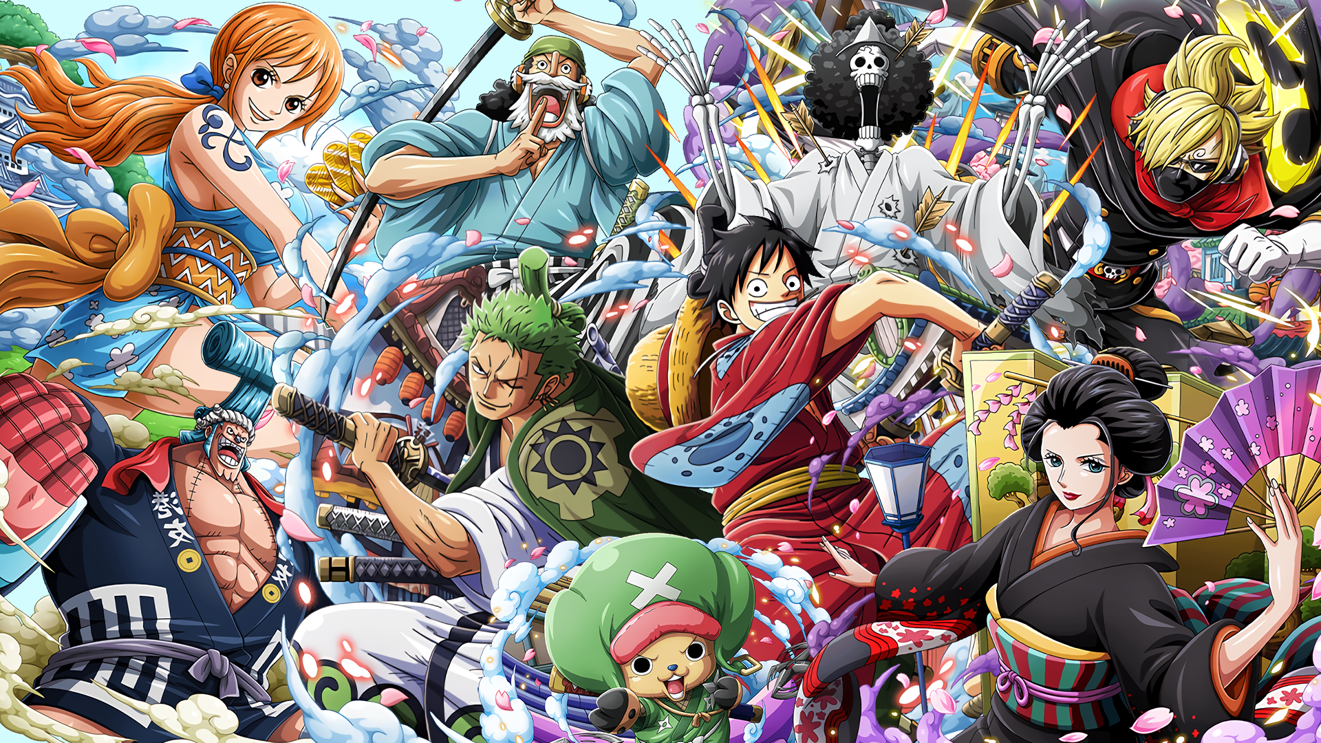 One Piece Wano Hd Wallpapers Top Free One Piece Wano Hd Backgrounds Wallpaperaccess