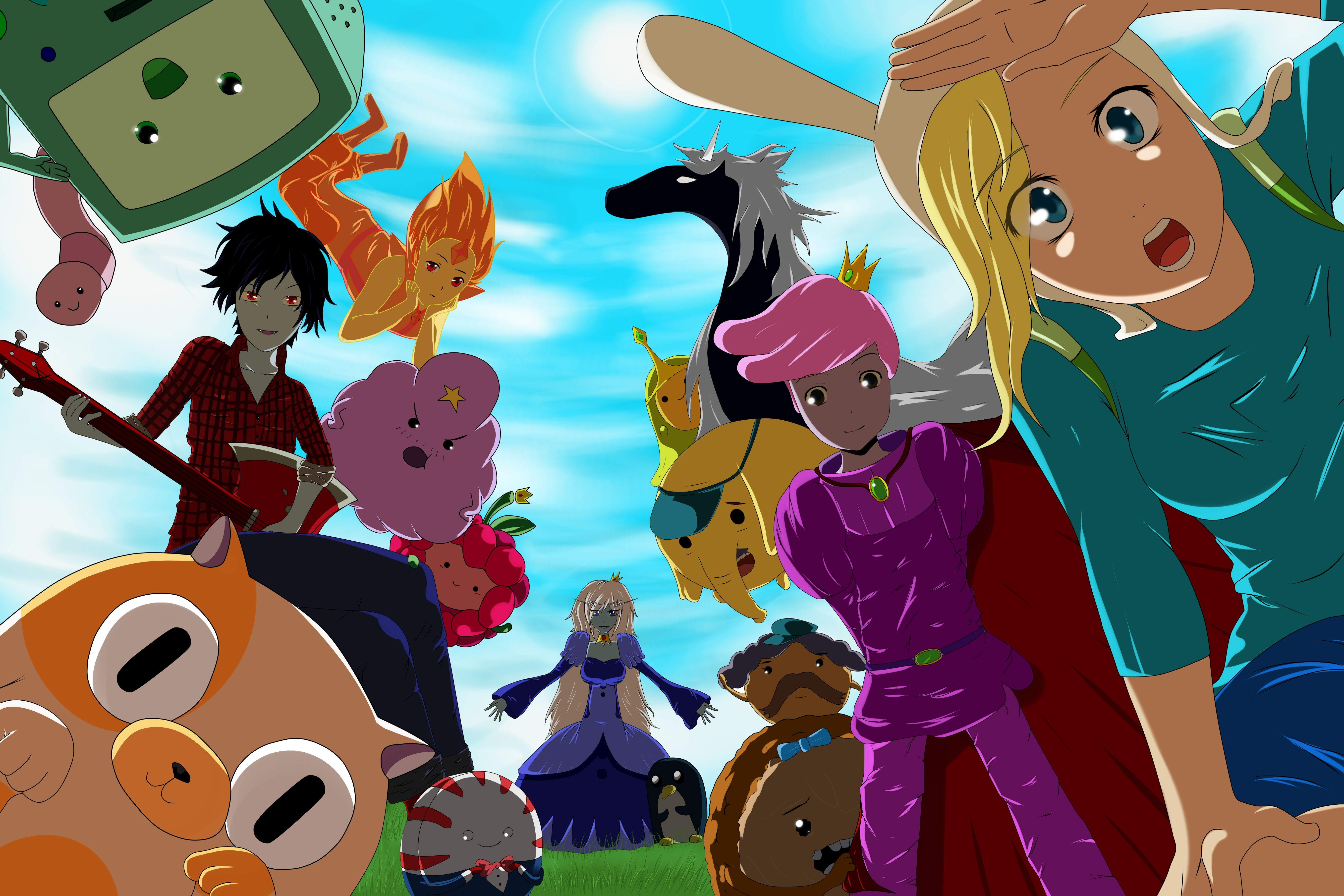 Anime Adventure Time Pictures adventure time anime wallpapers - top free adventure time