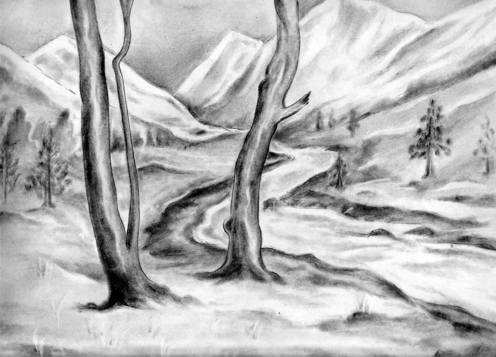 постоянно рисунки простым карандашом поэтапно пейзаж изготавливаем реализуем недорогие