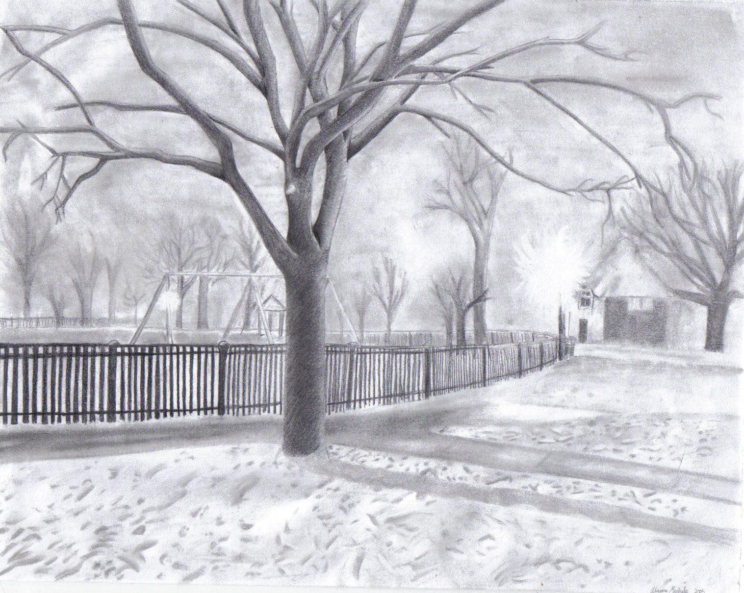 Pencil Art Landscape Wallpapers Top Free Pencil Art
