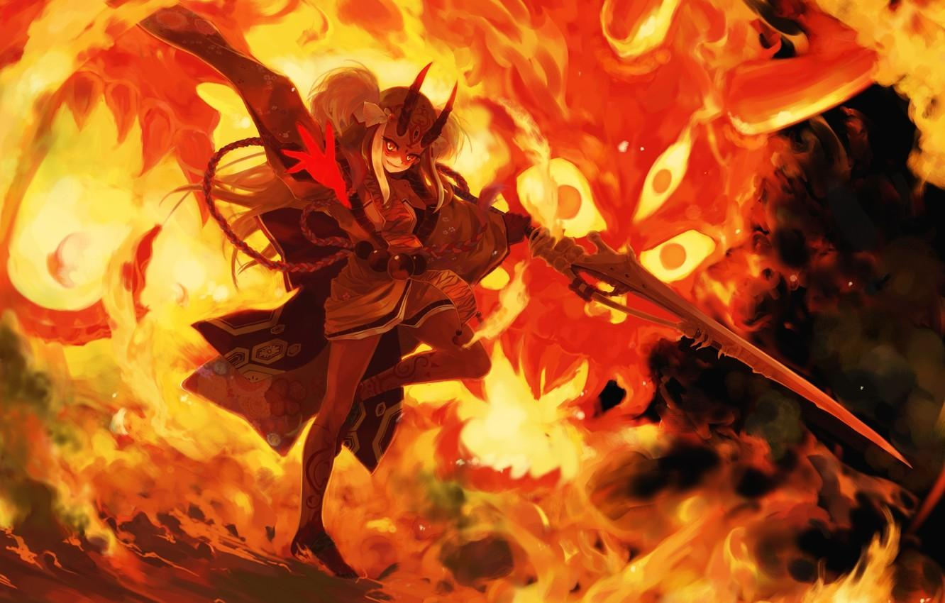 Anime Fire Girl Wallpapers - Top Free Anime Fire Girl Backgrounds