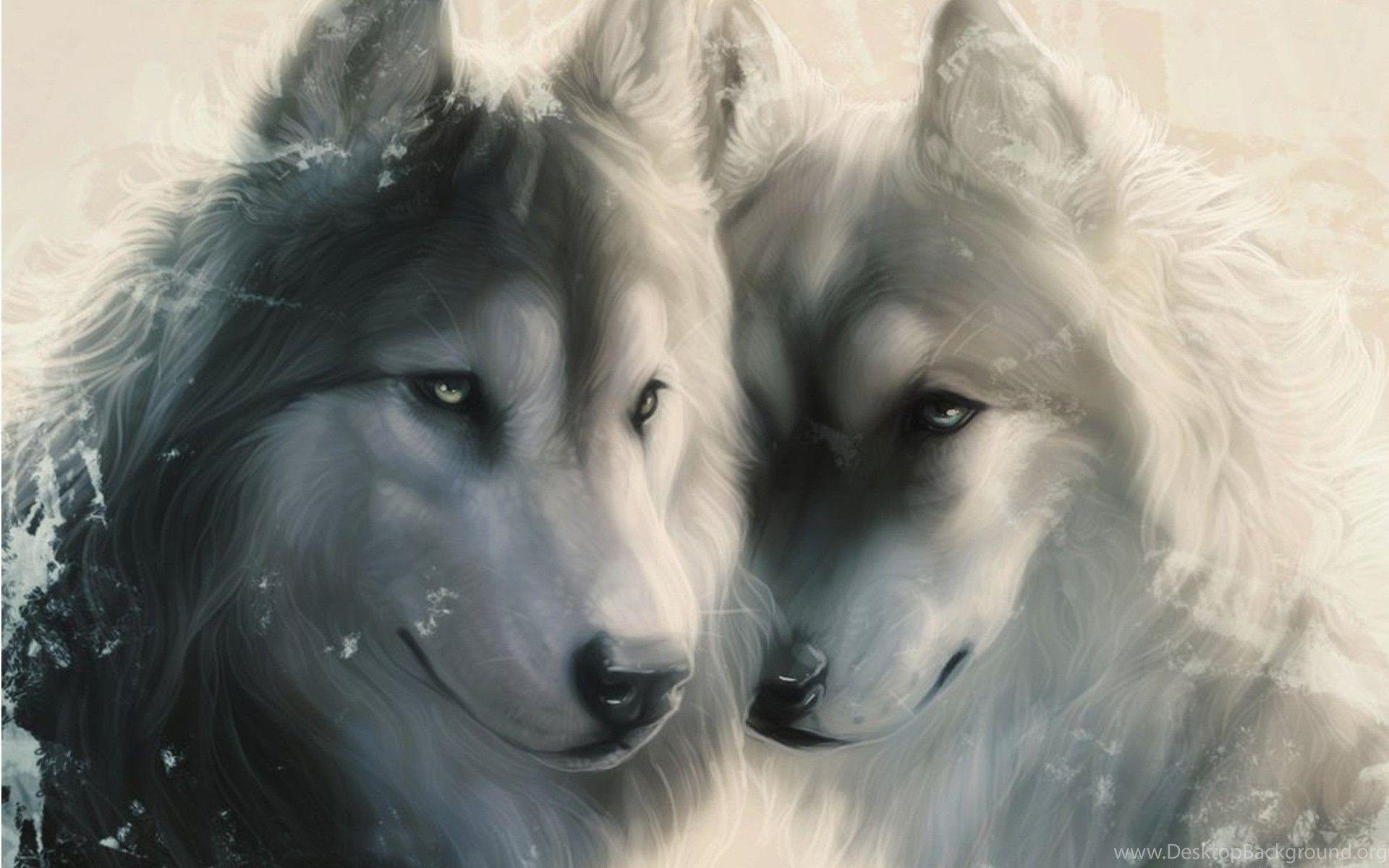 1920x1200 Hình nền, NGHỆ THUẬT, chó sói, Đối mặt, Không gian, Những con sói, Yêu, Người ăn thịt 2009019