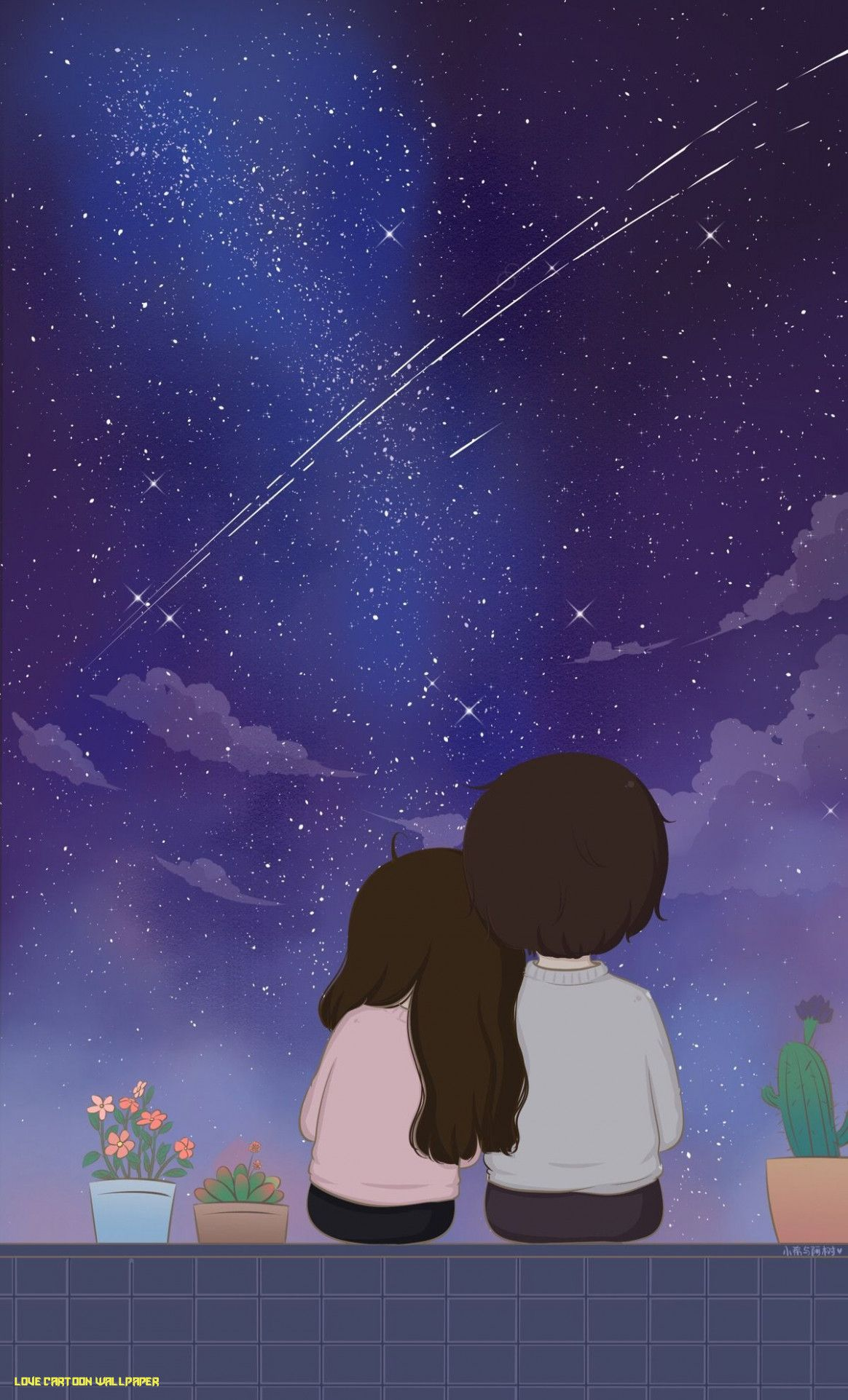 Cute Cartoon Love Wallpapers Top Free Cute Cartoon Love Backgrounds Wallpaperaccess