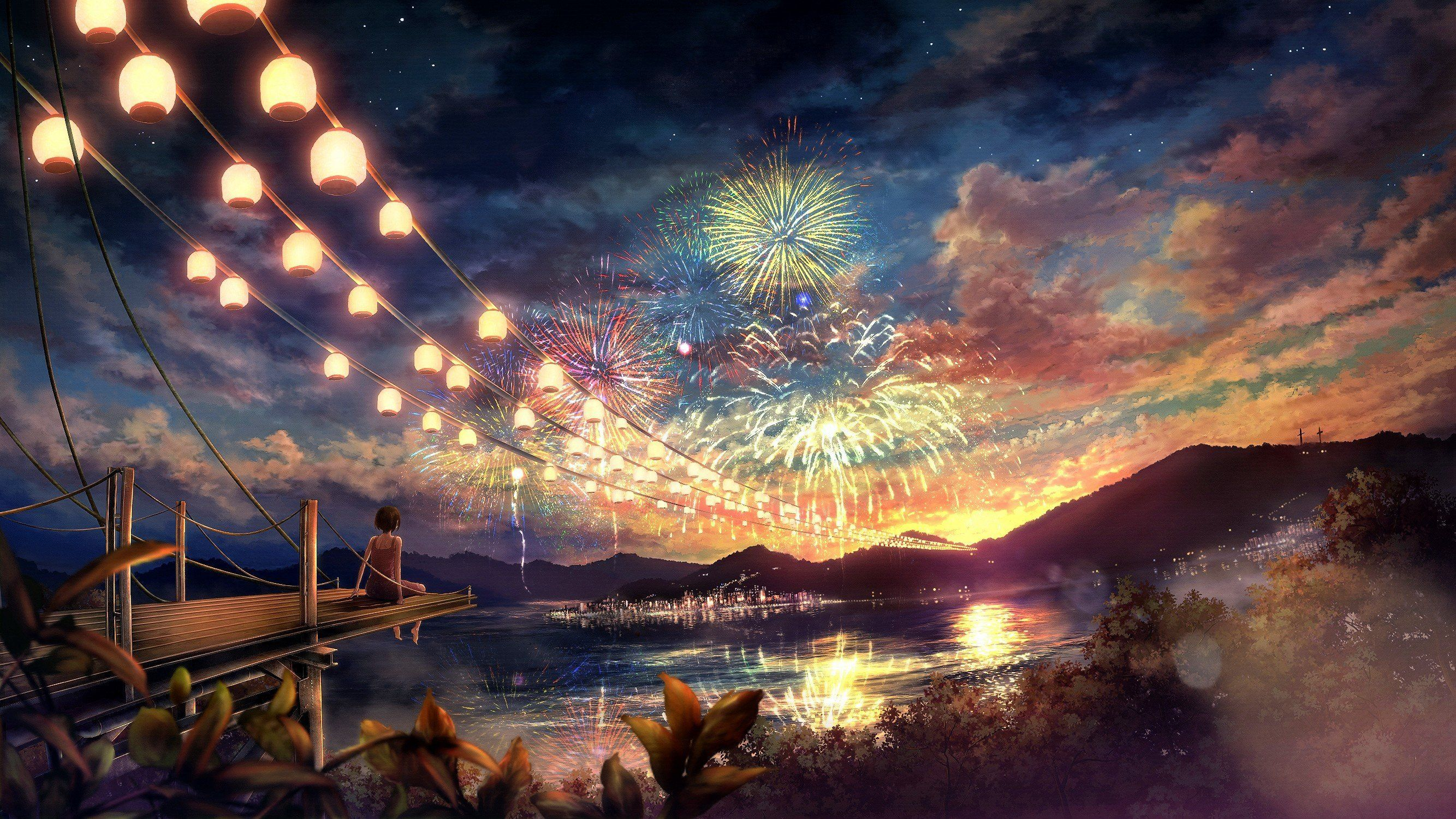 4k Anime Scenery Wallpapers Top Free 4k Anime Scenery Backgrounds Wallpaperaccess