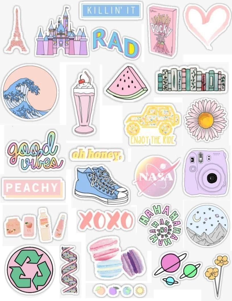 Aesthetic Stickers Wallpapers Top Free Aesthetic Stickers Backgrounds Wallpaperaccess