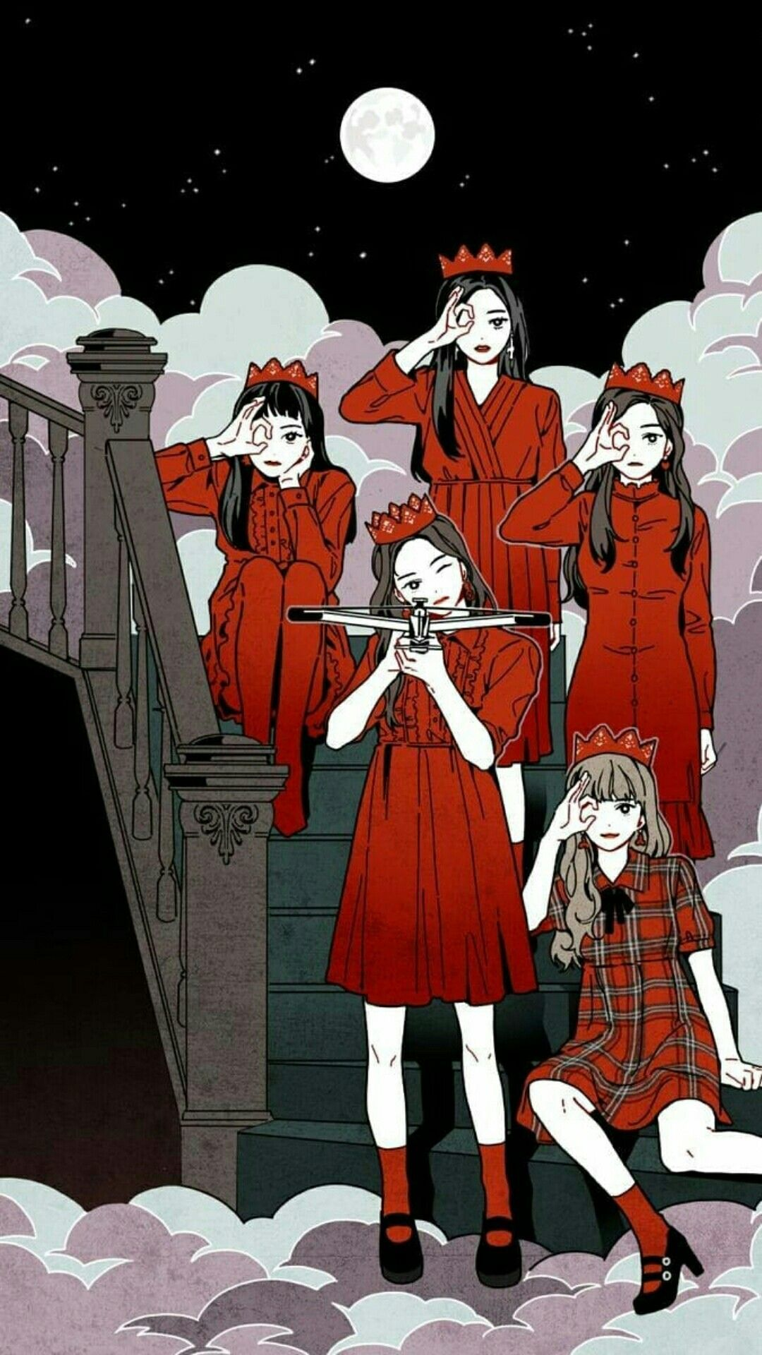 Red Velvet Anime Wallpapers Top Free Red Velvet Anime Backgrounds Wallpaperaccess