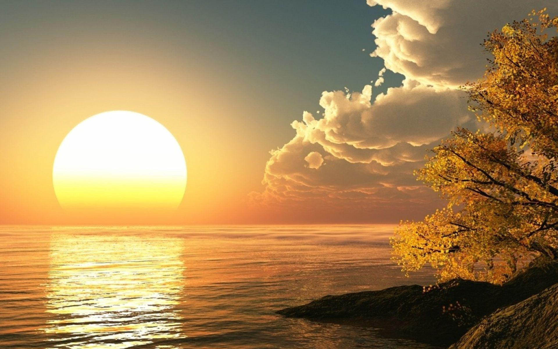 Hình ảnh mặt trời mọc 1920x1200 Hình ảnh mặt trời mọc trên hình ảnh thiên nhiên đẹp nhất ở độ cao