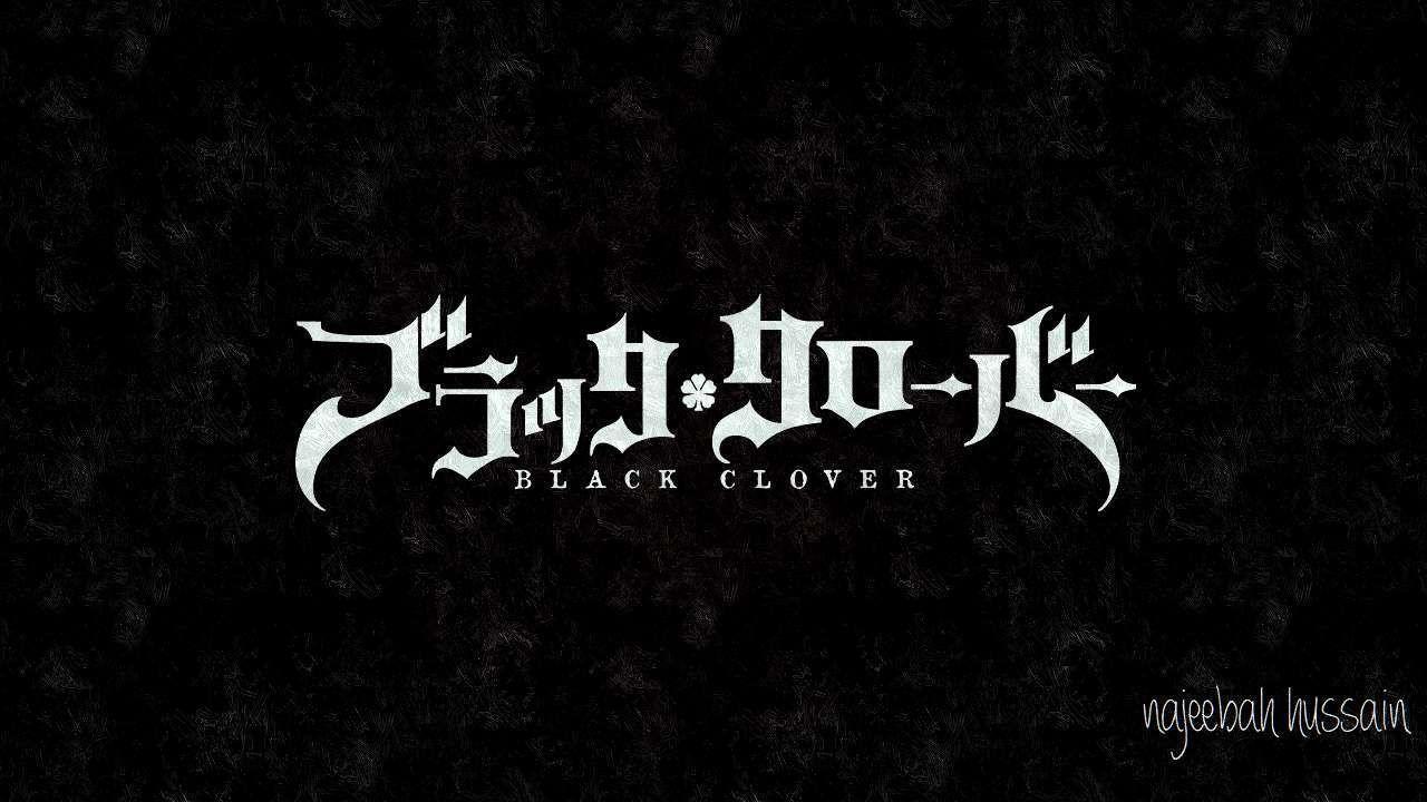 Black Clover Logo Wallpapers Top Free Black Clover Logo Backgrounds Wallpaperaccess