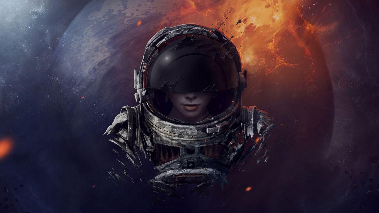 Girl Astronaut Wallpapers Top Free Girl Astronaut Backgrounds Wallpaperaccess