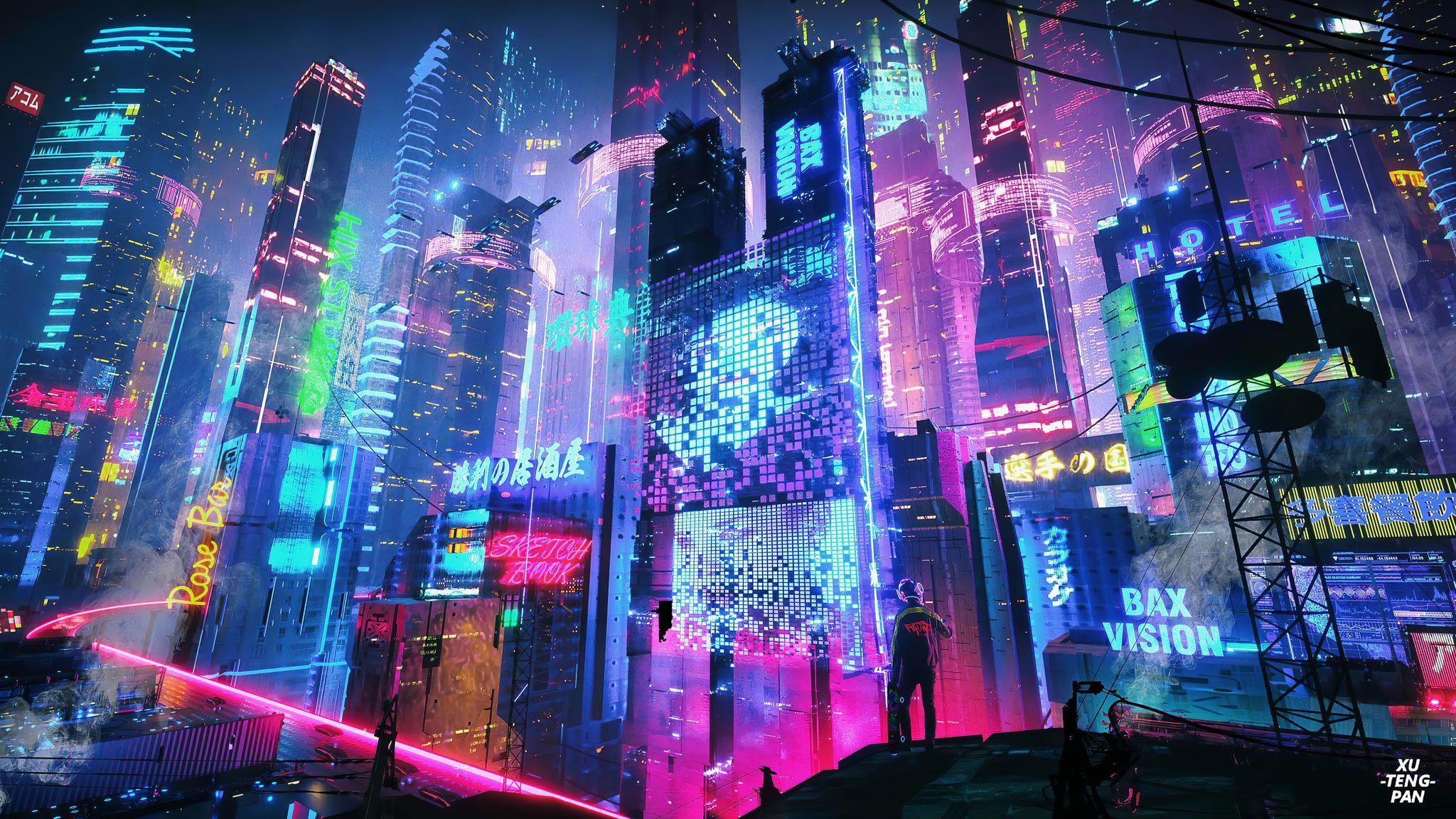 Neon City Desktop Wallpapers - Top Free Neon City Desktop ...