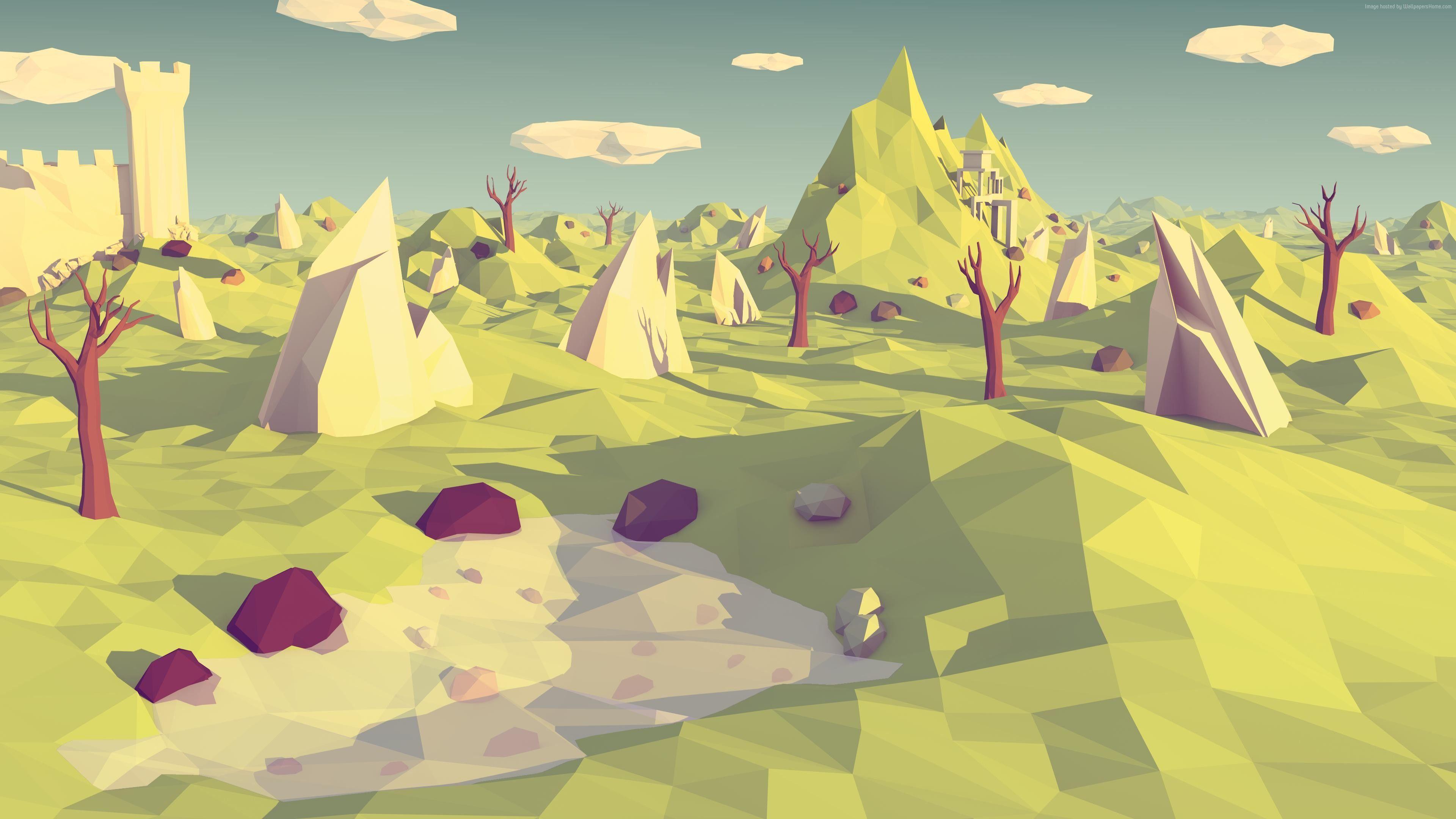 Polygon Landscape Wallpapers Top Free Polygon Landscape