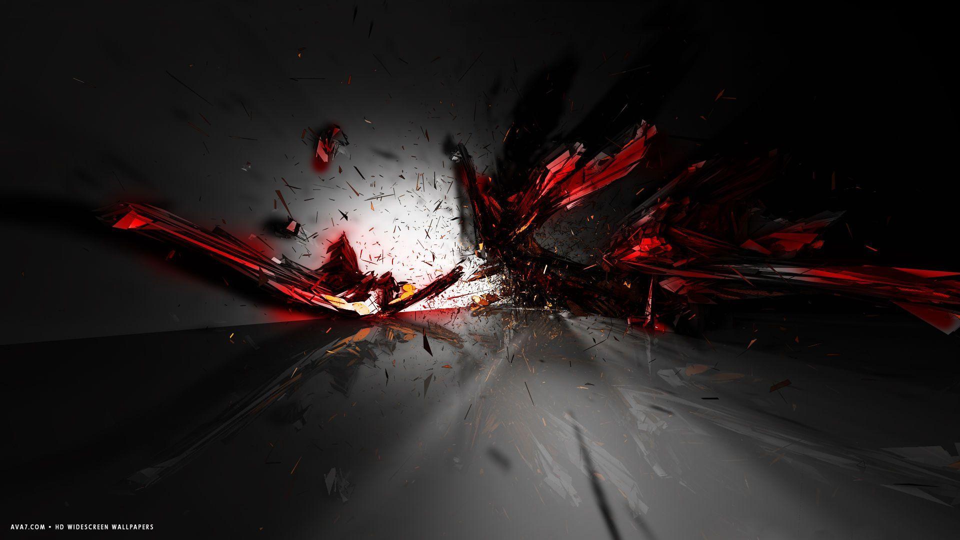 Cool Black And Red Desktop Background
