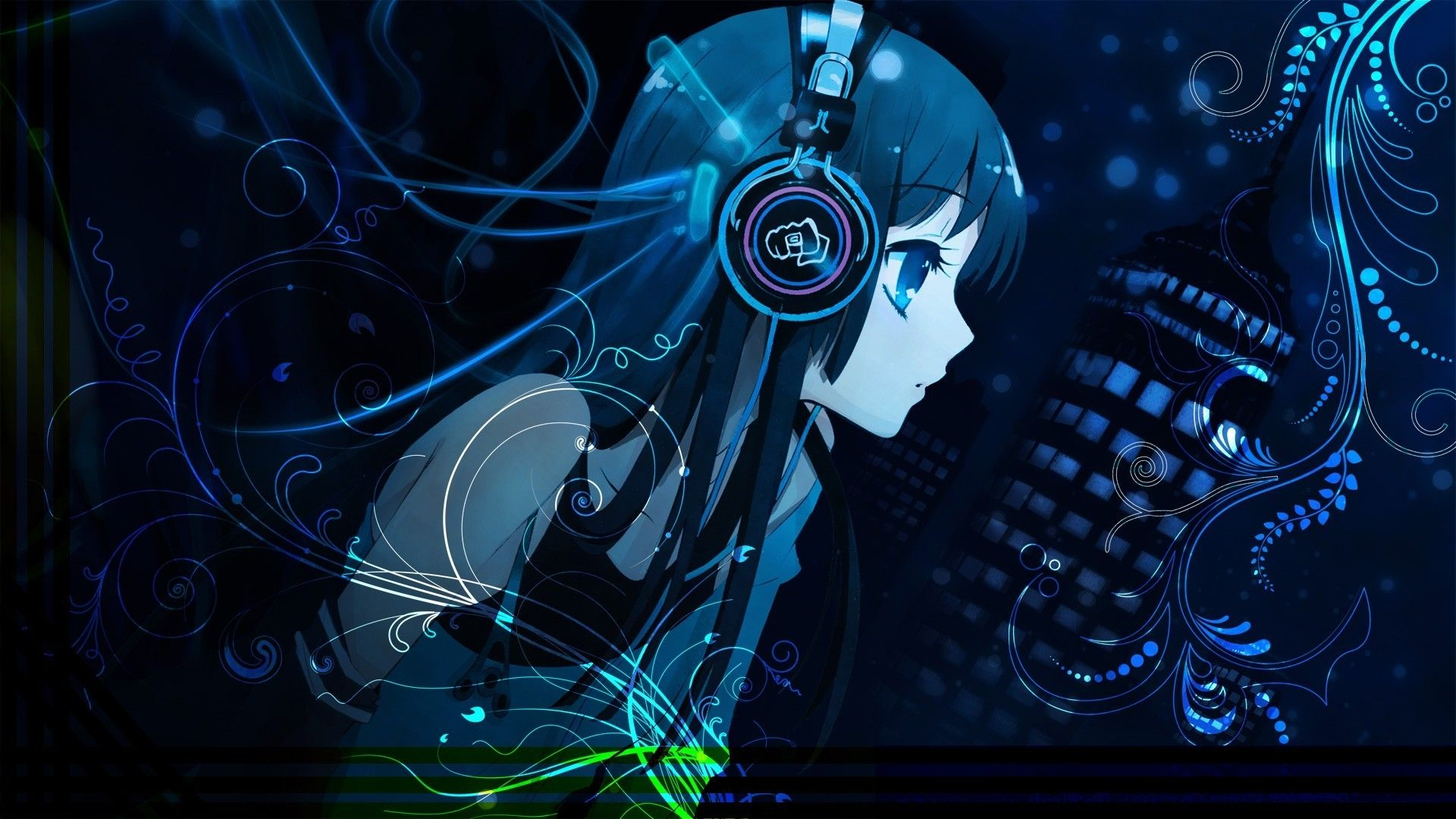 Anime Girl With Headphones Wallpapers Top Free Anime Girl With