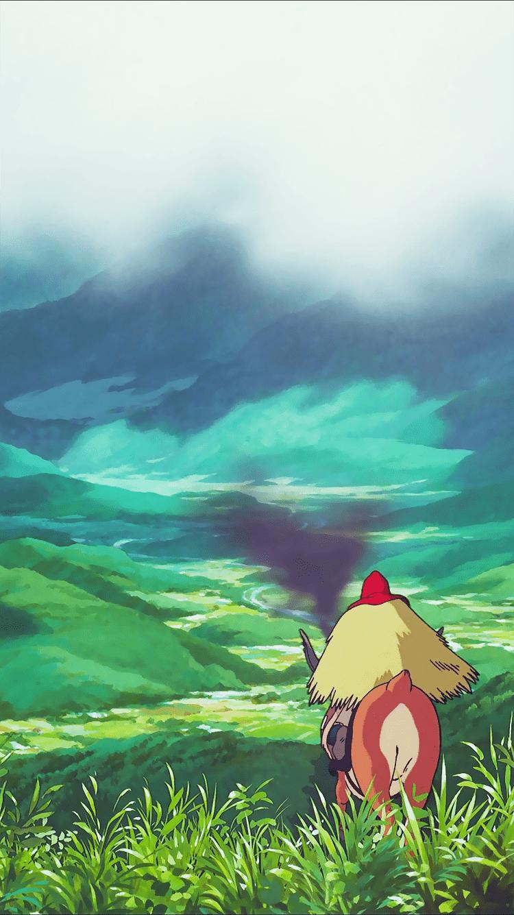 Princess Mononoke Iphone Wallpapers Top Free Princess Mononoke Iphone Backgrounds Wallpaperaccess