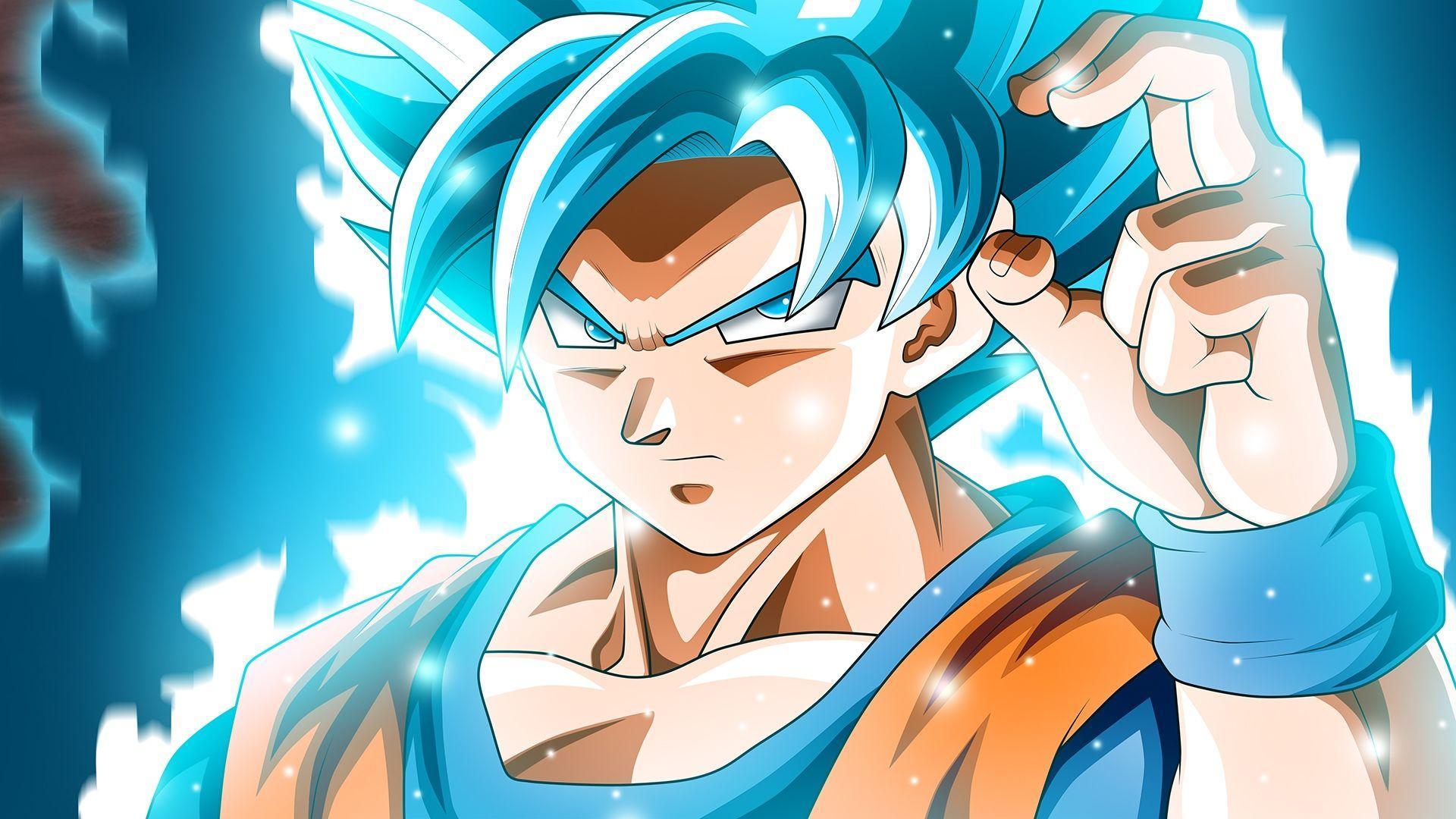 Blue Super Saiyan Goku Wallpapers - Top Free Blue Super ...