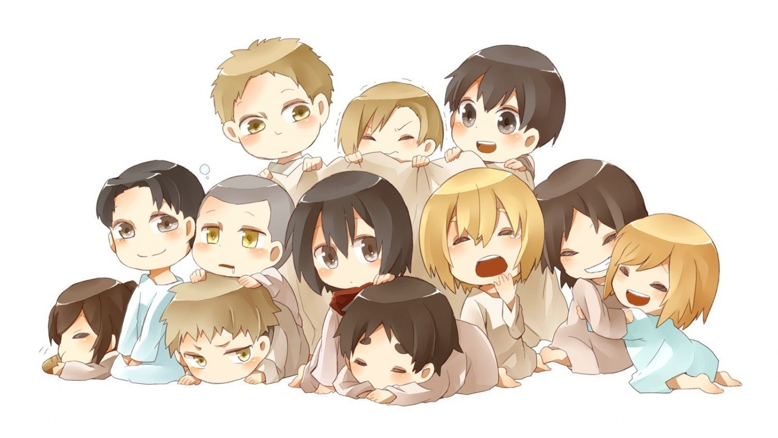 Attack On Titan Chibi Wallpapers Top Free Attack On Titan Chibi Backgrounds Wallpaperaccess