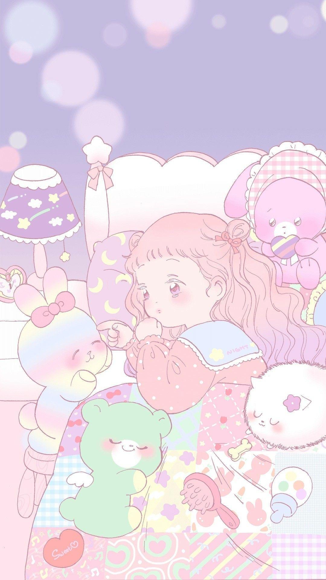 Kawaii Pastel Anime Wallpapers Top Free Kawaii Pastel Anime Backgrounds Wallpaperaccess