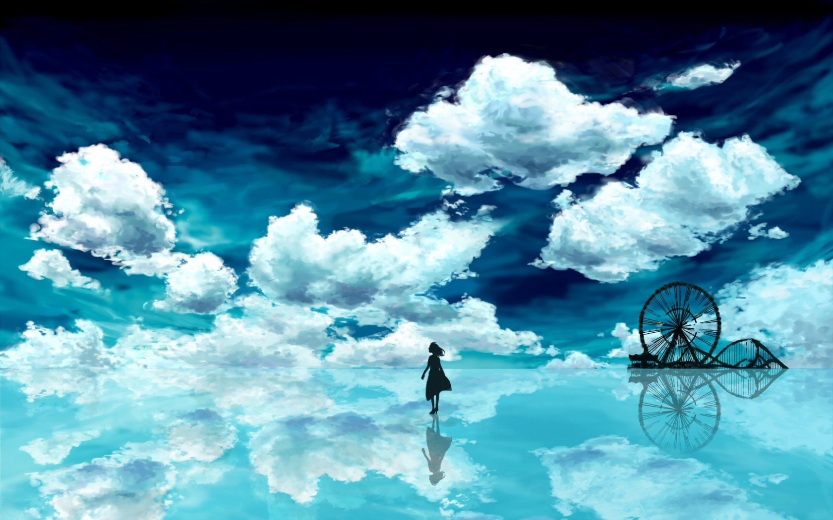 Blue Anime Scenery Wallpapers Top Free Blue Anime Scenery