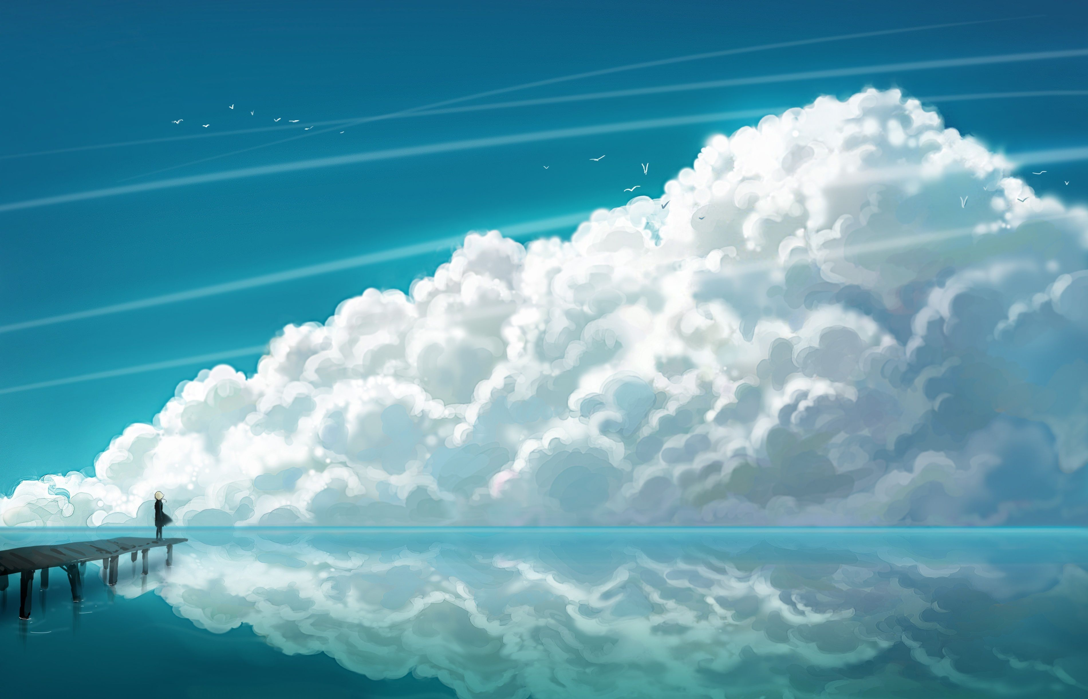 Anime Landscape Wallpapers Top Free Anime Landscape Backgrounds Wallpaperaccess