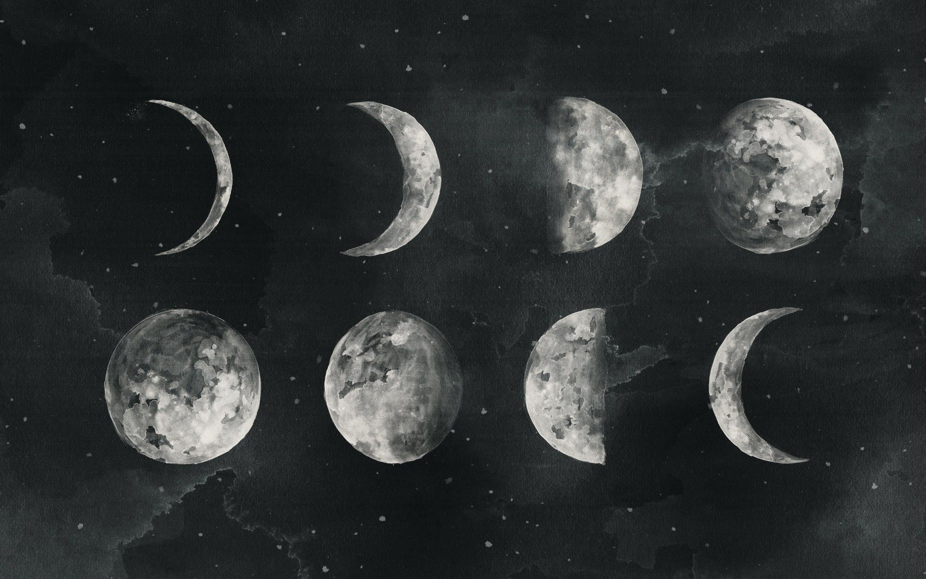 Moon Phases Wallpapers Top Free Moon Phases Backgrounds Wallpaperaccess