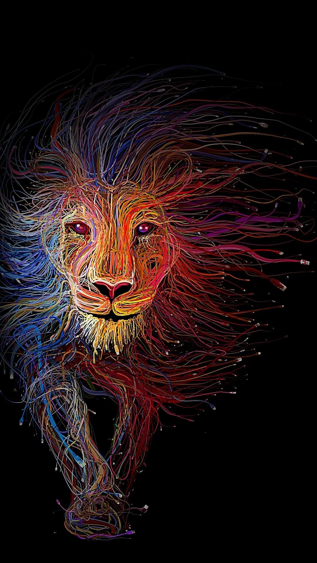Iphone Lion Wallpaper Colorful Abstract Pictures Www Picturesboss Com