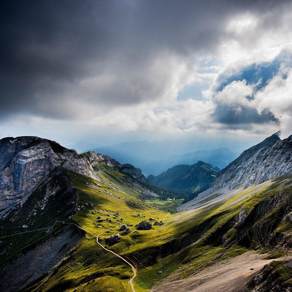 Wallpaper clouds mountains rocks Switzerland the hotel