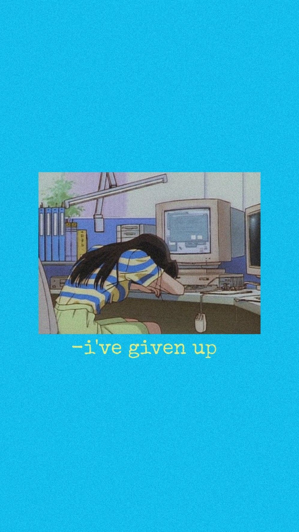 997x1773 Hình nền màu xanh lam Aesthetic Anime