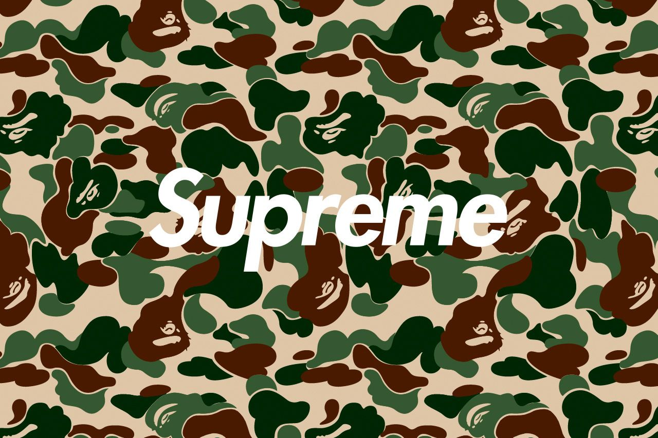 Supreme X Bape Wallpapers Top Free Supreme X Bape Backgrounds Wallpaperaccess