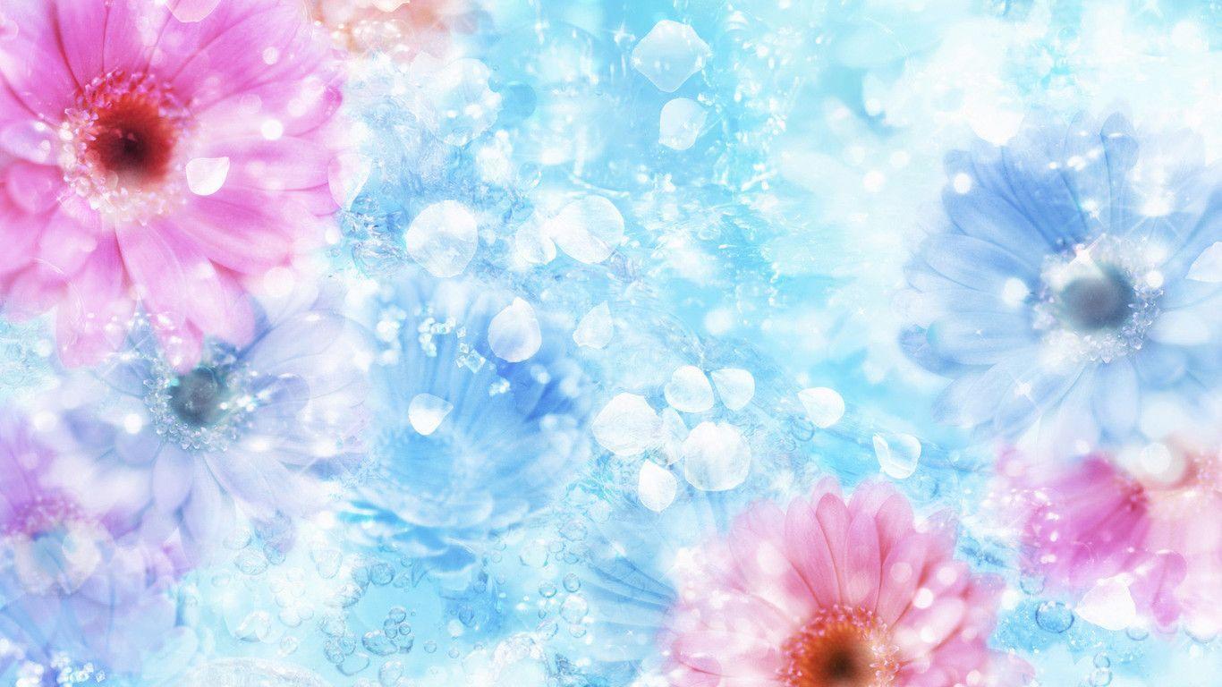 Hình nền 1366x768 Tải xuống 1366x768 Hoa và tinh thể trong nước - Hình nền mùa xuân HD.  Những bông hoa đẹp.  Hình nền hoa, Hình nền hoa miễn phí, Hình nền đặc biệt