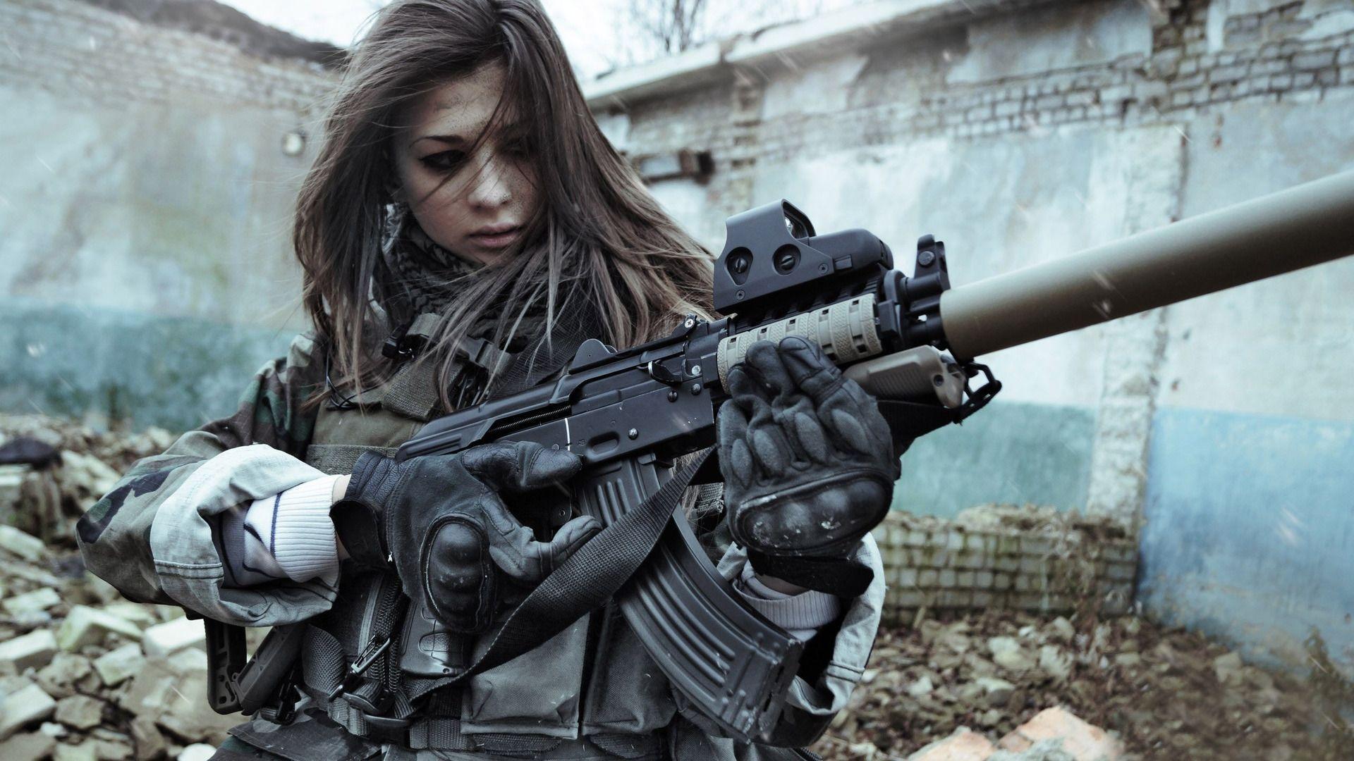 Military Girl Wallpaper