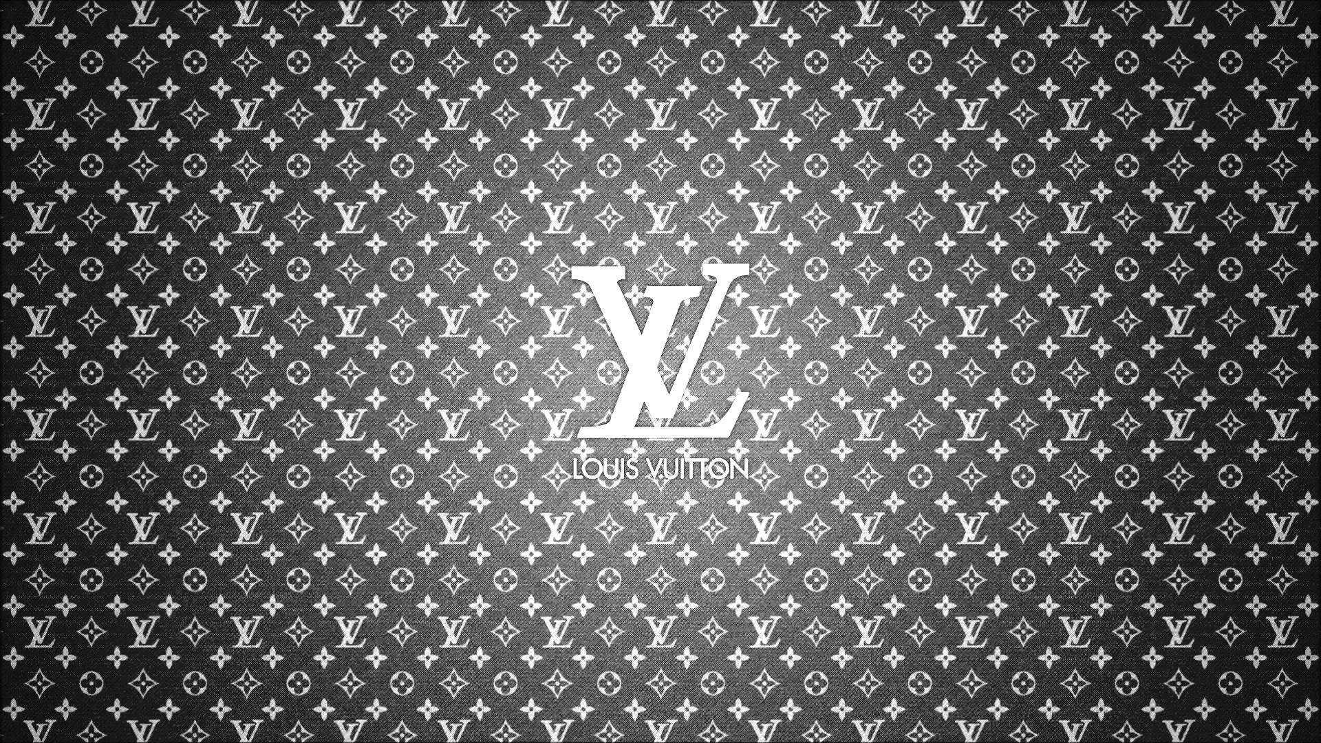 Louis vuitton logo wallpaper white