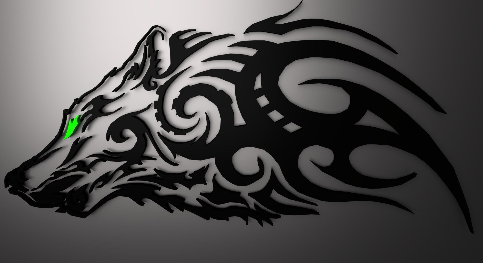 Tribal Wolf Wallpapers Top Free Tribal Wolf Backgrounds