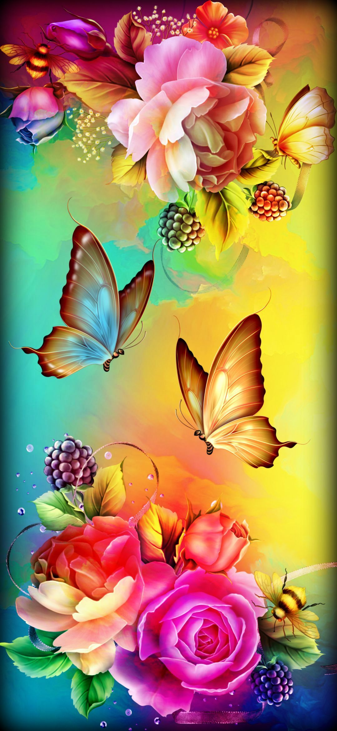 Beautiful Flowers and Butterflies ...