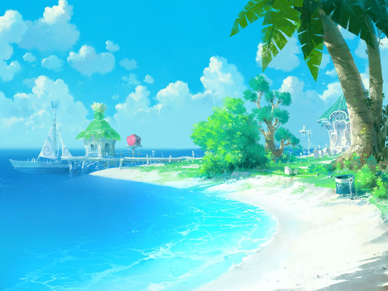 Anime Beach Wallpapers - Top Free Anime Beach Backgrounds ...